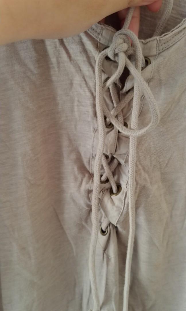 #ramadansale mango tanktop khaki dengan tali