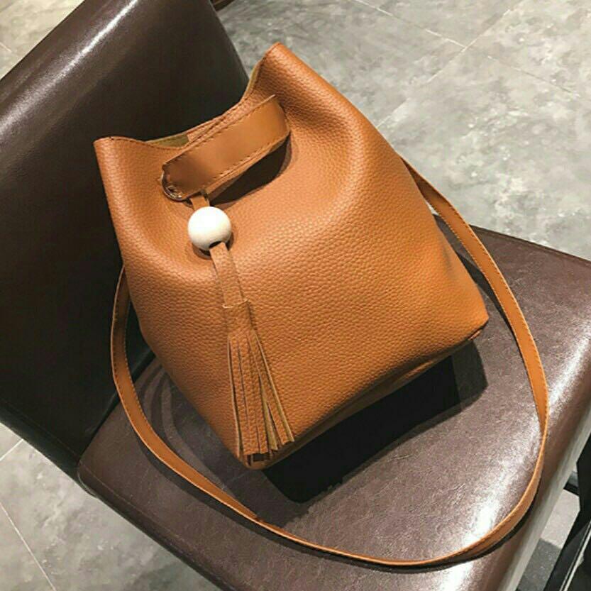 🍀Ready Stock 现货+Free Shipping 免运费 2 in 1 Handbag Sling Wallet Shoulder Tote Bucket Bag Beg