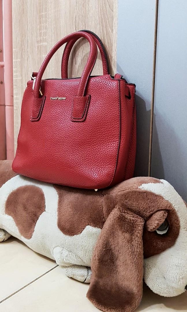 Red Bag Hush Puppies