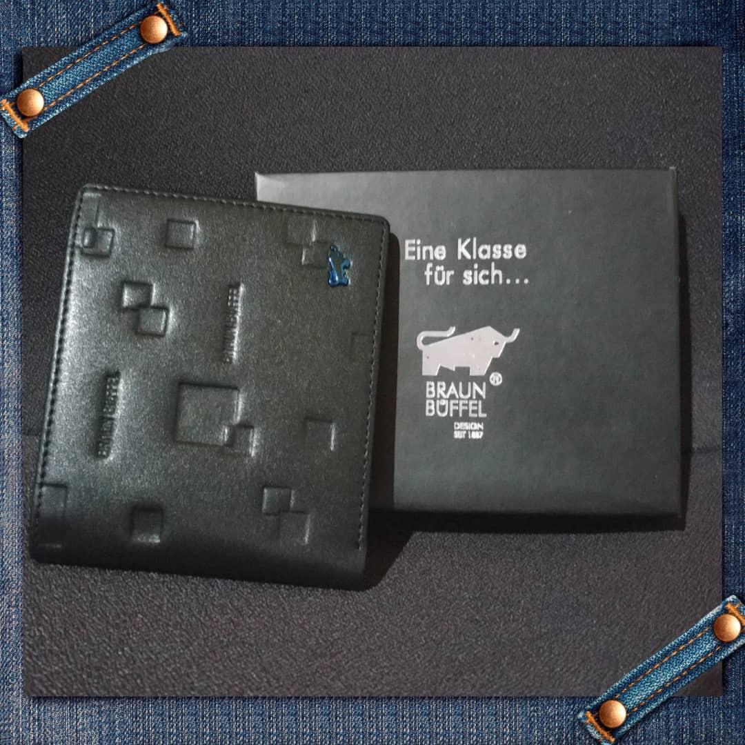 (Stock 24Aug-last pc)Braun buffel 3 flaps blue bull leather wallet