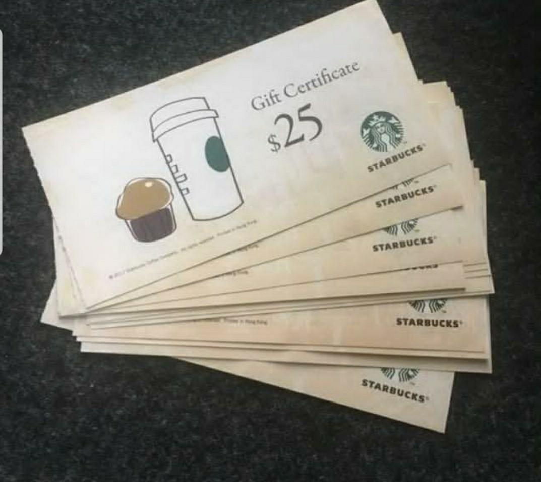 Starbucks coupon for HKD 200