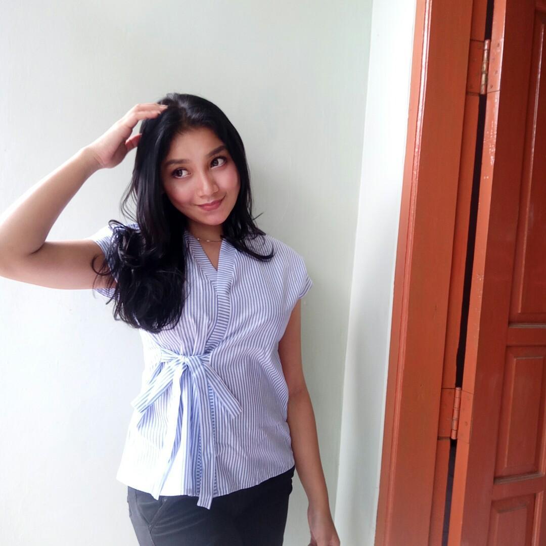 Stripes blouse blue
