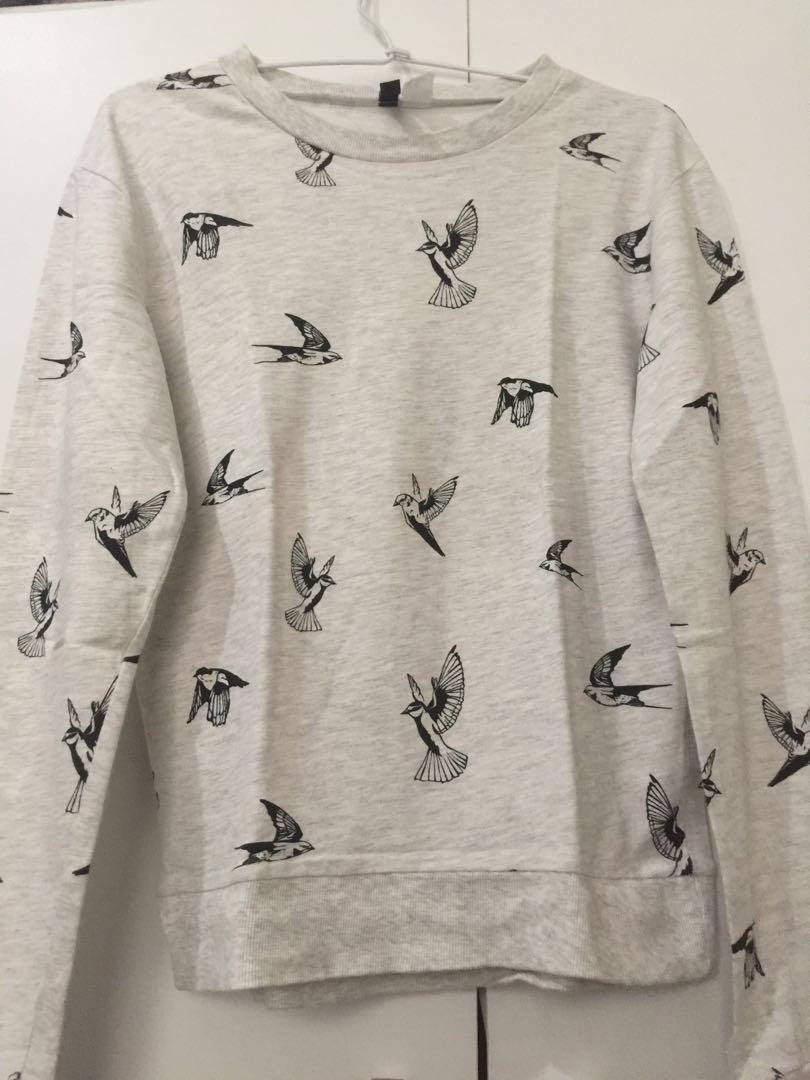 "Sweatshirt H&M ""Grey Bird"""