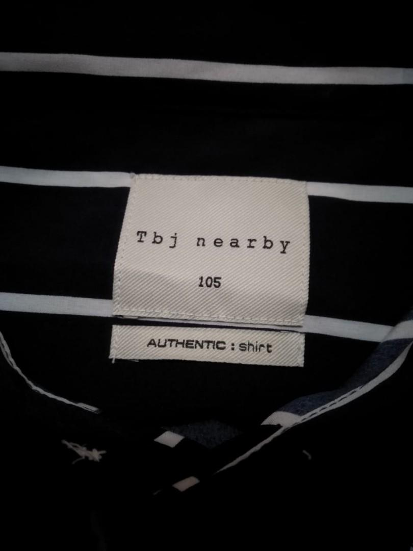 TBJ Nearby • Mens Casual Shirt Motif Stripes • Korean Brand