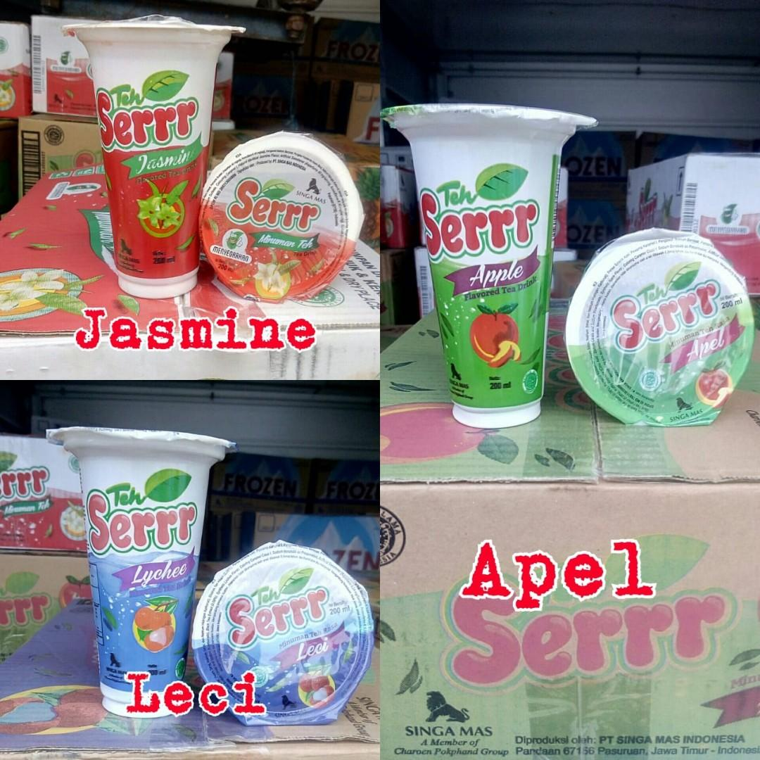 Teh gelas rasa buah , teh buah , minuman kemasan , minuman dalam gelas