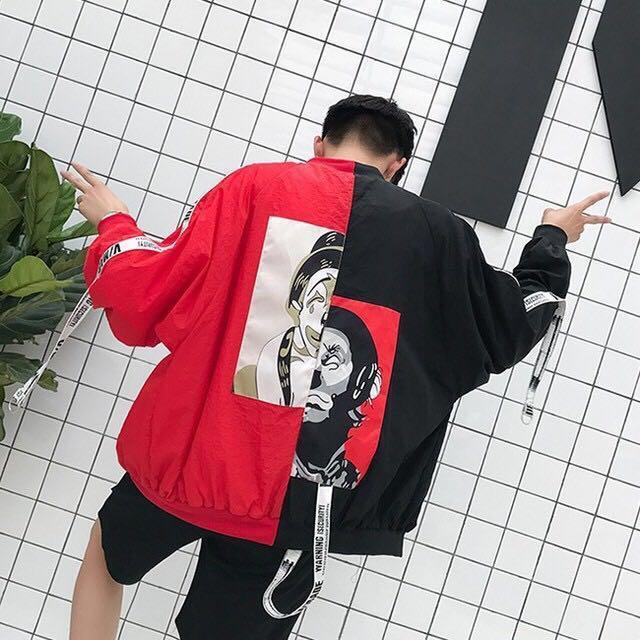 Ulzzang cartoon windbreaker / jacket (3 col)