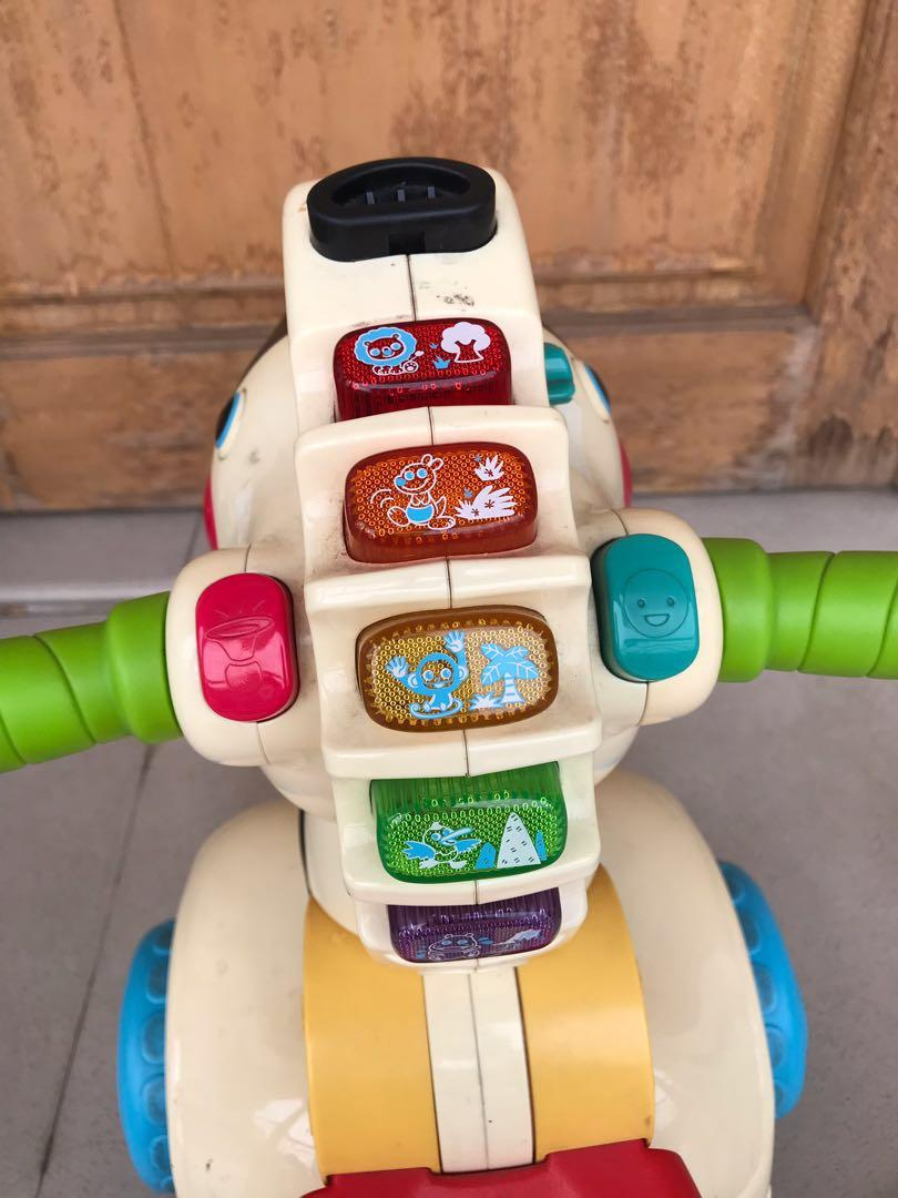 Vtech baby 3 in 1 learning zebra scooter ride toy