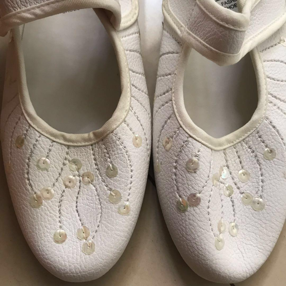 White shoes with blings #ramadansale
