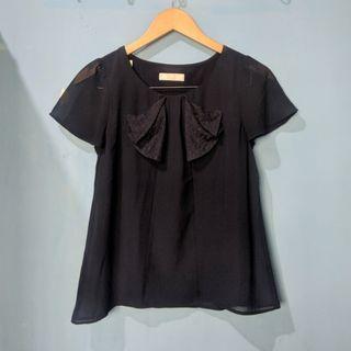 Navy blouse top HARGA PAS NETT