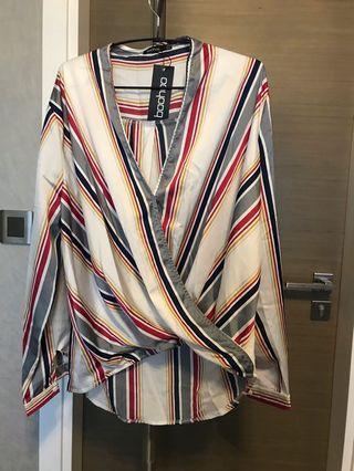 🚚 Multi Colored Striped Blouse