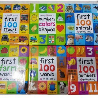 Priddy Baby First 100 Baby Learning Books ( Total 6 Books)