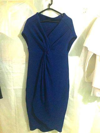 Dress wanita-blue dress #BAPAU