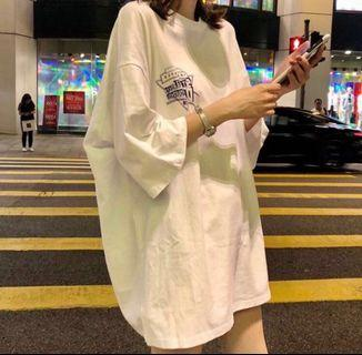 instock white Standardstb Discoveryou oversized tee