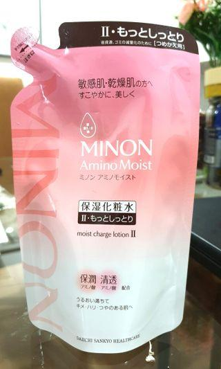 🆕️ Minon Amino : Moist Charge Lotion II Ultra Moisturising  Refill (from 🇯🇵)