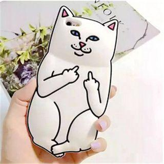instock iPhone 7s white ulzzang supreme cat phone case