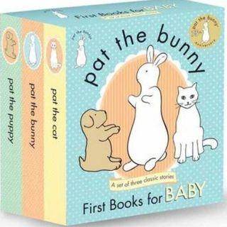 Pat the Bunny, Cat and Puppy (3 books in a Boxset)