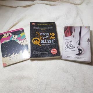 #ramadansale Paket Buku Otobiografi (Kening, Notes from Qatar 2, Kisah Haru Sang Dokter)