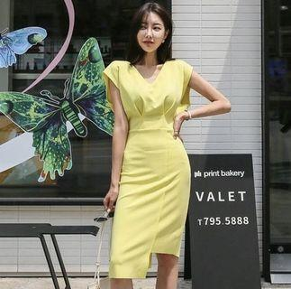 🚚 Yellow Dress for work
