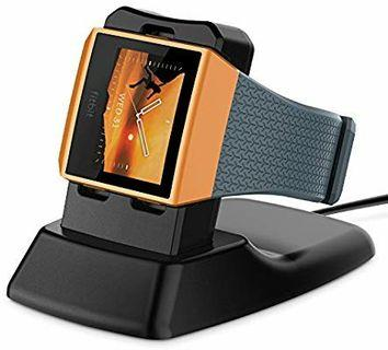 A272 - Fitbit Ionic Charger XMS471, Myriann Charging Stand Accessories Charging Dock Station Cradle Holder for Fitbit Ionic Smart Watch - Black