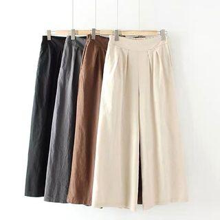[BN] Ulzzang Linen Wide Leg Pants / Culottes