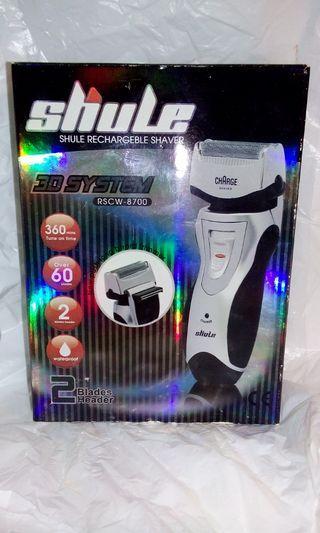 全新 Shule rechargeble shaver 小型剃鬚刨剃須刀電鬚刨