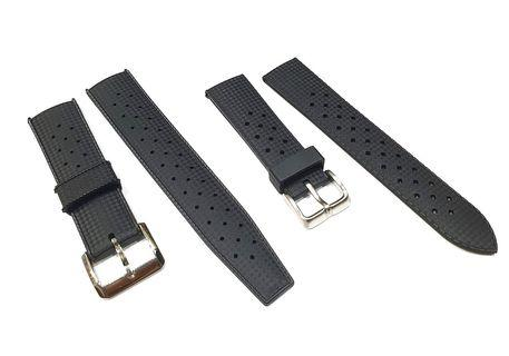 Seiko Vintage Tropical Style Rubber Watch Strap