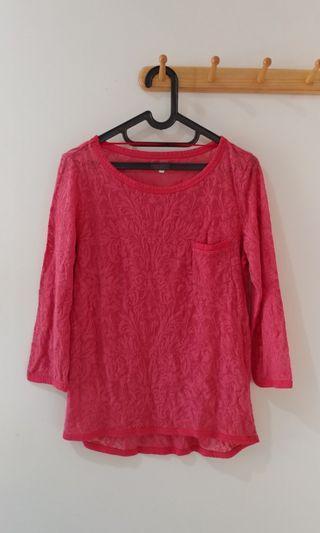 #ramadansale baju semi sweater merah salmon