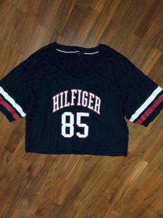 Tommy Hilfiger Jersey Oversized Crop Top