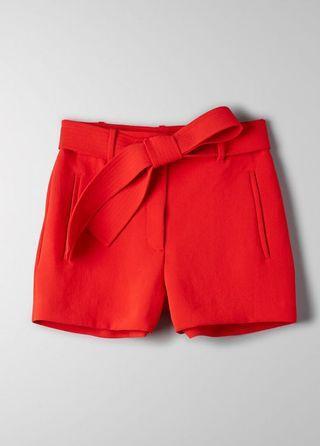 Aritzia tie-front shorts