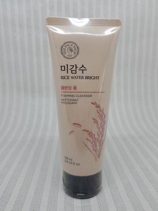 The face shop rice water bright facial foam