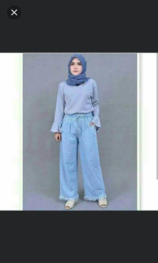 #mauvivo Kulot Jeans Navy