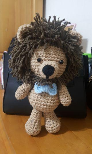 🚚 💯純手工毛線獅子娃娃