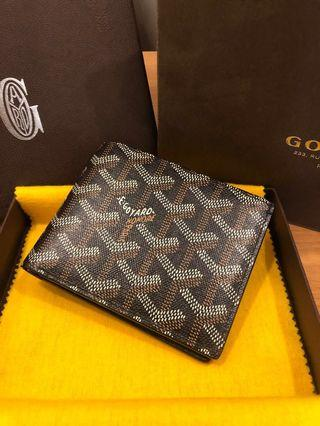 Goyard bifold wallet black LIKE NEW