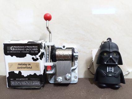 (特價)手製音樂盒+starwars 黑武士鎖匙扣