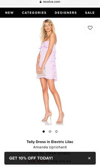 Tally dress lilac size M never worn!  Amanda uprichard revolve high end