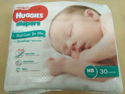 HUGGIES Platinum NB tape 30s