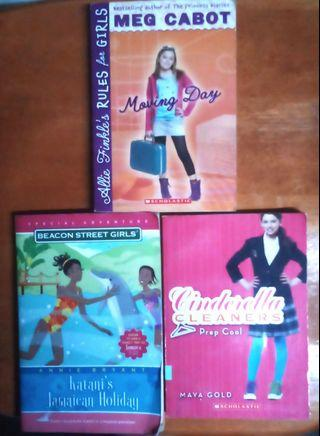 Preteen books Cinderella Cleaners, Meg Cabot Becon Street Girls