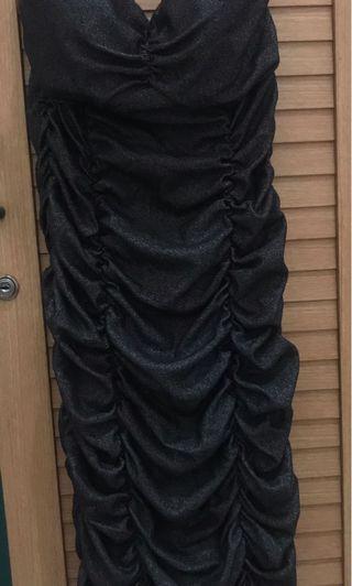 Mididress Black dress glitter dress dress