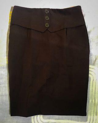 Rok Span/Dark Brown Skirt/Work Attire