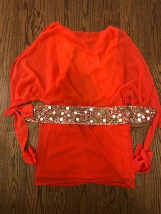 Coral dress - size s