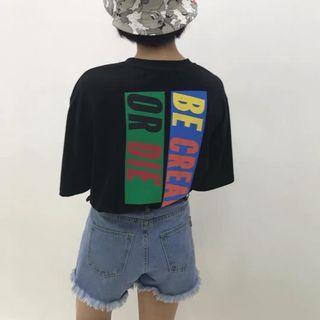 🚚 韓國英文字潮流上衣