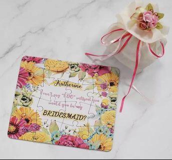 Original Personalized Bridesmaid Groomsman Proposal Puzzle Gift Any Text Language Customized Invitations Card Wedding Decoration