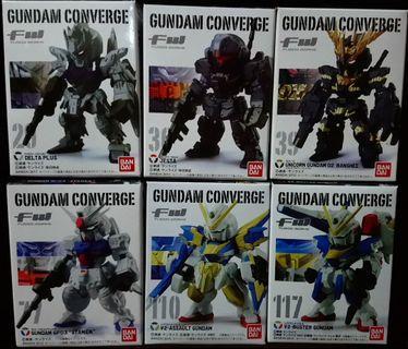 FW Gundam Converge 29 30 39 77 110 117