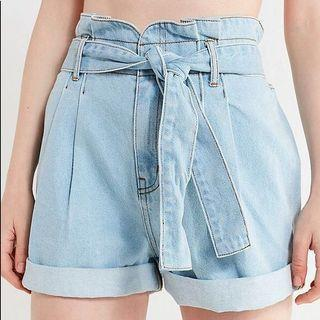 URBAN OUTFITTERS PAPER BAG WAIST SHORTS