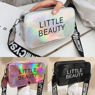 Fashion Wording Colorful Laser Sling Bag