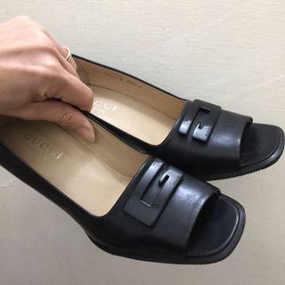 Made in Italy 專櫃正貨非高檔仿品 GUCCI魚口高跟鞋 適合23.5瘦腳板美女