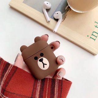 [預訂]Line friends 蘋果二代airpods2無線藍牙耳機矽膠保護套
