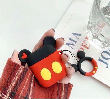 [預訂]米奇/米妮 蘋果二代airpods2無線藍牙耳機矽膠保護套