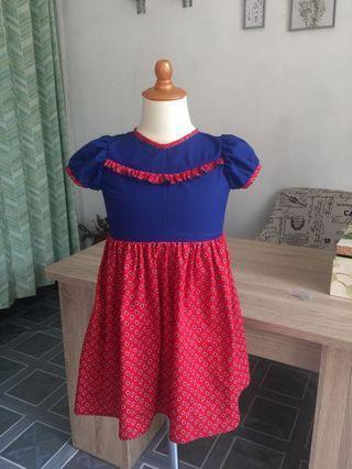 Dress anak (merah)