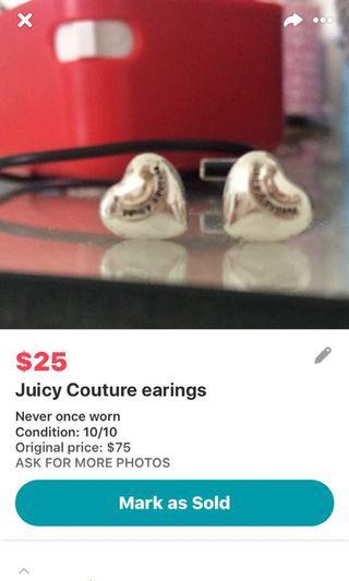Juicy Couture Earings